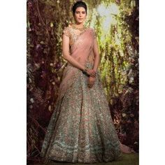 Breeze blue lehenga choli with dupatta. To complete the look matching choli and dupatta is available with this product Designer Bridal Lehenga, Bridal Lehenga Choli, Blue Lehenga, Lehenga Suit, Sky Blue Weddings, Bridal Lehenga Collection, Nice Dresses, Formal Dresses, Dream Dress