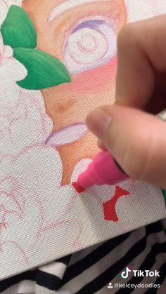 Art Drawings Sketches Simple, Pencil Art Drawings, Cute Drawings, Posca Marker, Marker Art, Posca Art, Cute Art Styles, Diy Canvas Art, Pen Art