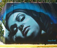 "Street art | Spraypaint on concrete ""Leanne - La Perla"" (La Perla, San Juan, Puerto Rico, 2008) by El Mac"