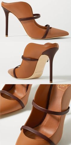 Malone Souliers' 'Maureen' mules are part of the brand's core collection, and are arguably its most popular design. This backless pair has a curved profile that follows the foot's natural shape and is punctuated with two dark-brown straps, perfect for formal Autumn outfits. Malone Souliers Brown Maureen Shoes. Mid Tone Brown Ladies Shoes. Camel Brown Shoes. Shoes for Autumn Wedding guests. What to wear for an Autumn wedding. Tan Court Shoes. Shoes for winter wedding guests 2020. #fashion… Nude High Heels, Nude Shoes, Nude Pumps, Autumn Outfits, Winter Fashion Outfits, Fashion Shoes, Shoes For Wedding Guest, Mother Of The Bride Shoes, Malone Souliers