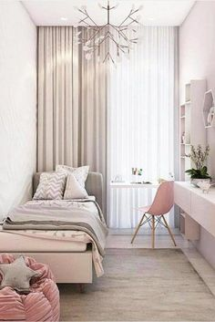 57 Modern Small Bedroom Design Ideas For Home JV-Zimmer Small Apartment Bedrooms, Small Room Bedroom, Bedroom Colors, Bedroom Themes, Kids Bedroom, Master Bedroom, Bedroom Bed, Bedroom Furniture, Very Small Bedroom