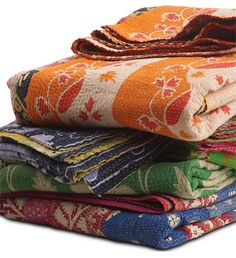Colorful sari throws from BoConcept.