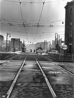 Berlin Kreuzberg: Sektorenübergang Prinzenstrasse Blickrichtung Osten Foto 1958