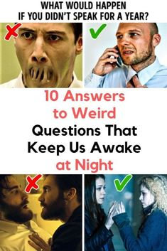 10 Answers to Weird Questions That Keep Us Awake at Night Funny Real Names, Getting To Know Someone, Embarrassing Moments, Weird Dreams, Hip Ups, Wtf Fun Facts, Cool Pins, New Pins, Funny Jokes
