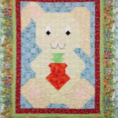 Cutest bunny quilt ever... Kits available at Annie's quilt shoppe in shelton, WA.