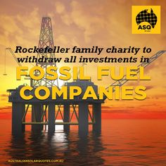 A charitable fund of the Rockefeller family – who are sitting on a multibillion-dollar oil fortune – have said it will withdraw all its investments from fossil fuel companies http://asq.site/l6nd6 | #ASQNews #SolarPower