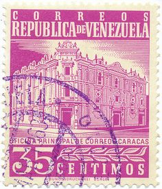 Venezuela Stamp Collection | 1958-1962 Venezuelan Stamp - Main Post Office, Caracas | Flickr ..