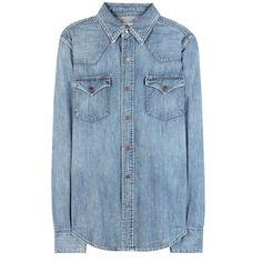 Polo Ralph Lauren Apley Denim Shirt ($175) ❤ liked on Polyvore