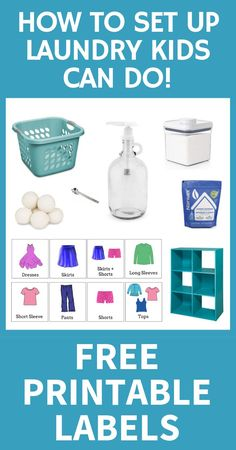 Feeling overwhelmed by laundry? This no-sort, no-fold system is one of the best laundry tips ever. Learn these 3 simple laundry hacks for. Oven Cleaning, Cleaning Hacks, Cleaning Schedules, Cleaning Recipes, Laundry Baskets, Small Laundry, Printable Labels, Free Printable, Toddler Fine Motor Activities