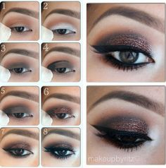 Step by step guide for how to achieve a brown/cranberry glitter smokey eye make up look Plum Makeup, Love Makeup, Makeup Tips, Hair Makeup, Makeup Tutorials, Makeup Ideas, Glitter Makeup, Glitter Eyeshadow, Sparkle Makeup