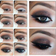 Eyes Makeup @Q-tips® cotton swabs
