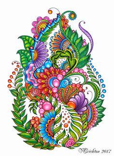 Pencil Drawing Patterns Zentangle art, zentangle gems and droplets, colour pencils. Zentangle Drawings, Mandala Drawing, Zentangle Patterns, Art Drawings, Art Patterns, Zentangles, Wal Art, Doodle Art Designs, Organic Art