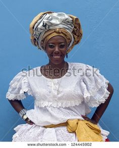 SALVADOR, BRAZIL- DECEMBER 9: Unidentified African-Brazilian Woman Shows typical costume on December 9, 2012 in Salvador, Brazil. African roots are kept very strong in the Bahia state of North Brazil.
