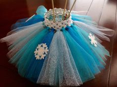 Frozen Inspired Tutu Centerpiece by ThePolkaDottedRoom on Etsy