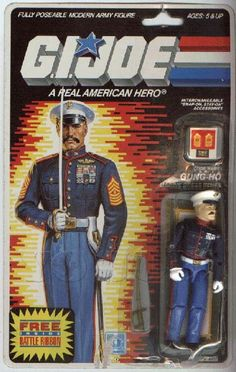 Gung-Ho Marine Dress Blues (v2) Vintage 1987 G.I. Joe ARAH Action Figure by Hasbro - YoJoe Archive