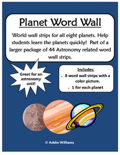 Classroom Freebies Too: Planet Word Wall