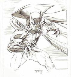Black Panther by Stephen Segovia #blackphanter #marvel #sketch