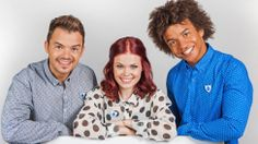 New CBBC Blue Peter Presenters Lindsey Russell and Radzi Chinyanganya with Barney Harwood.