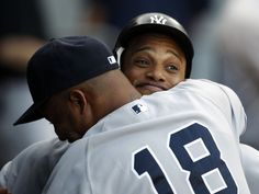 Andruw hugs for Robbie.