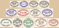 Postmarks of surviving Pony Express Mail Camping In Ohio, Camping Places, Rv Camping, Joseph Oregon, Camping World Locations, Old West Photos, Pony Express, Rare Stamps