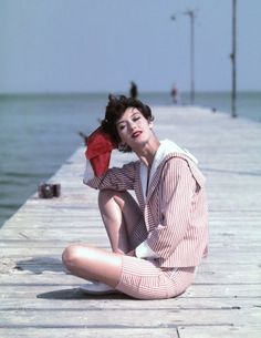 Barbara Mullen in St. Tropez, 1957. Photo by Georges Dambier.