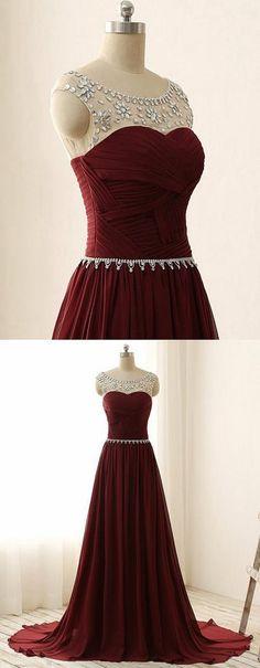Burgundy Prom Dress Long, Prom Dresses, Graduation Party Dresses, Formal Dress For Teens, BPD0266