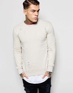 Criminal+Damage+Distressed+Sweatshirt