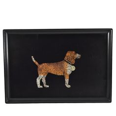 Vintage Couroc Beagle Tray at The Hour and TheHourShop.com