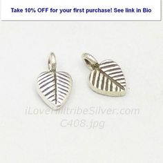 Silver Charm-C408 #oxidized #heart #leaf #stripslines #charm #hilltribesilver #ilovehilltrbesilver http://ift.tt/2tDRVba
