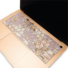 TOP CASE - Ultra Thin Silicone Graphics Keyboard Cover Skin Compatible with 2018 Release MacBook Air 13 Inch with Retina Display fits Touch ID Model: - Victorian Purple Macbook Air Keyboard Cover, New Macbook Air, Keyboard Stickers, Macbook Air 13 Inch, Apple Laptop Cases, Computer Protection, Macbook Air Wallpaper, Apple Watch, Airpods Apple
