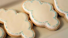 April Showers Birthday Cookies - Rain Clouds