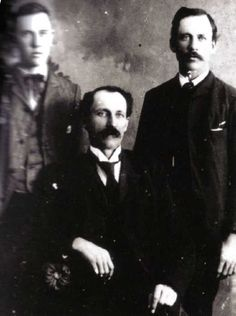 Perley, Royal and Almanzo Wilder - 1890