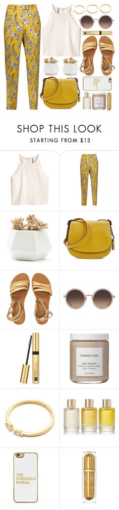 """Sun Rays"" by monmondefou ❤ liked on Polyvore featuring Oscar de la Renta, Coach, Billabong, Linda Farrow, Estée Lauder, French Girl, Aromatherapy Associates, BaubleBar, white and yellow"