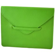 Lime green leather clutch. COOL!!