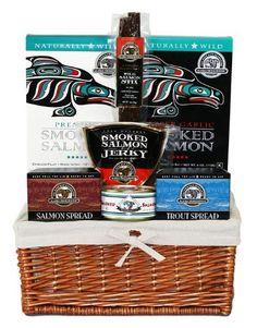 Alaska Smokehouse Ketchikan Gift Basket, 3-Pound Packages $45.83. Katinaac Mallins · Gourmet Seafood Gifts