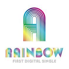 Rainbow - 'A' Album Lyrics Super Junior T, Rainbow Logo, Album Songs, Album Covers, Lyrics, Digital, Albums, Kpop, Logos