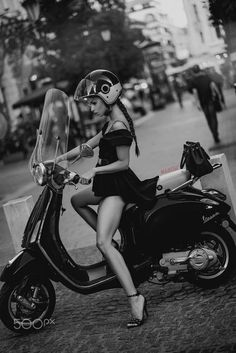 Barbara Vespa by Peter Marosi on Vespa Bike, Motos Vespa, Piaggio Vespa, Lambretta Scooter, Scooter Motorcycle, Vespa Scooters, Motorcycle Girls, Vintage Vespa, Lady Biker