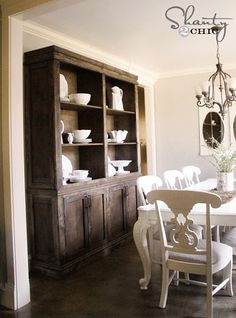 DIY sideboard and hutch for dining room