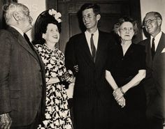 John F. Kennedy with his parents and grandparents on his election to Congress in 1946
