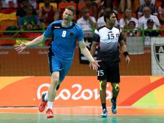 On the road to victory:    Tobias Reichmann of Germany celebrates after his team defeated Egypt 31-25 in their preliminary Group B match in men's handball.     -  2016 Rio Olympics: Highs and lows from Day 10