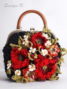 """Купить Сумка вязаная """"Мак"""" женская черная - сумка, сумка вязаная, вязаная сумка…"""