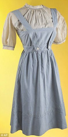 Judy Garland's original dress from The Wizard of Oz goes up for auction - and it's set to reach half a million dollars