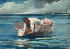 Water Fan - Winslow Homer - watercolor