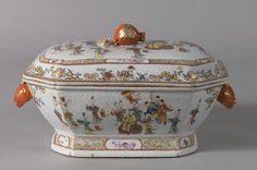 Sopera de porcelana china. Compañía de las Indias. - Colección - Museo Nacional del Prado