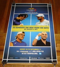 2005-US-OPEN-SUBWAY-POSTER-Andy-Roddick-Roger-Federer-Andre-Agassi