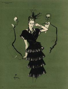 Molyneux 1945 René Gruau, Fashion Illustration
