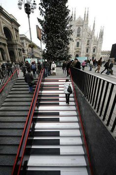 Musical Staircase in Milan - Italia