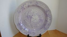 SPODE ENGLAND ARCHIVE COLLECTION GEORGIAN SERIES LAVENDER BOTANICAL PLATE #SPODE