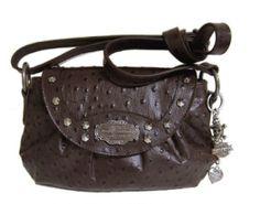 HARLEY-DAVIDSON® WOMENS OSTRICH EMBOSSED LEATHER CROSSBODY BAG OST2068L   eBay$128.00