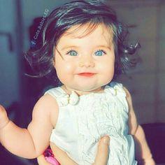 NA_ushMemØ_❤ Cute Kids Pics, Cute Baby Girl Pictures, Baby Photos, Cute Little Baby, Little Babies, Baby Kids, Baby Girl Blue Eyes, My Baby Girl, Cute Twins